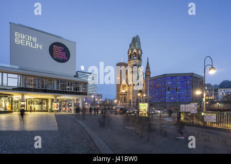 Bikini Shopping Center, Kaiser Wilhelm Memorial Church, Berlin, Germany - Stock Photo