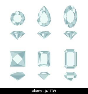 Diamond and gemstone shapes. - Stock Photo
