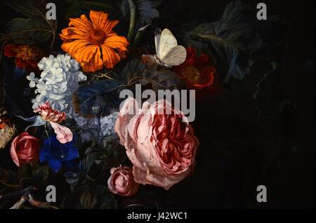 Mauritshuis Willem van Aelst Still life Detail 14022016 1 - Stock Photo