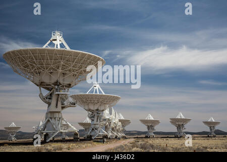 Datil, New Mexico - The Very Large Array radio telescope consists of 27 large dish antennas on the Plains of San - Stock Photo