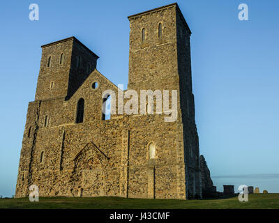 Reculver Twin Towers nr Herne Bay,Kent,UK - Stock Photo
