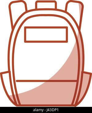 schoolbag student isolated icon - Stock Photo