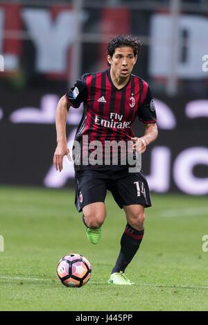 Milan, Italy. 7th May, 2017. Matias Fernandez (Milan) Football/Soccer : Italian 'Serie A' match between AC Milan - Stock Photo