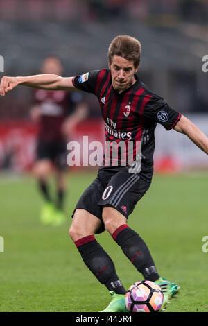 Milan, Italy. 7th May, 2017. Mario Pasalic (Milan) Football/Soccer : Italian 'Serie A' match between AC Milan 1 - Stock Photo