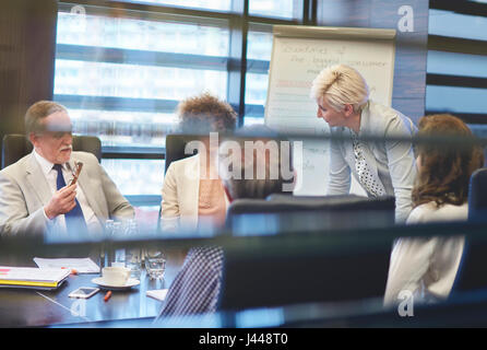 View over the window over business meeting - Stock Photo
