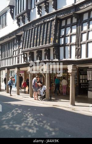 Dartmouth's historic butterwalk and museum, Dartmouth, South Devon, England, United Kingdom. - Stock Photo