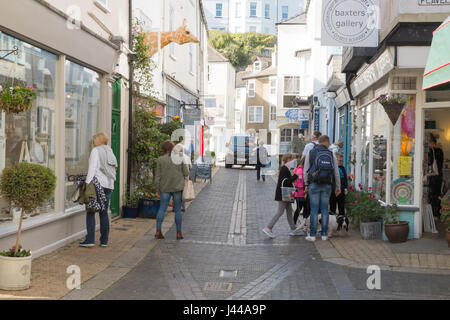 Foss Street , Dartmouth, South Devon, England, United Kingdom. - Stock Photo