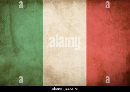 Old Grunge Flag of Italy - Stock Photo