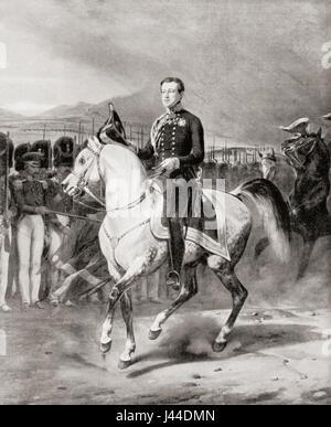 Charles Albert, 1798 – 1849, aka 'The Hesitant'.  King of Sardinia.   From Hutchinson's History of the Nations, - Stock Photo