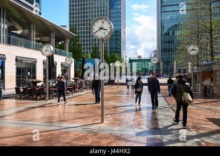 Reuters Plaza at Canary Wharf in London, England, United Kingdom, UK - Stock Photo