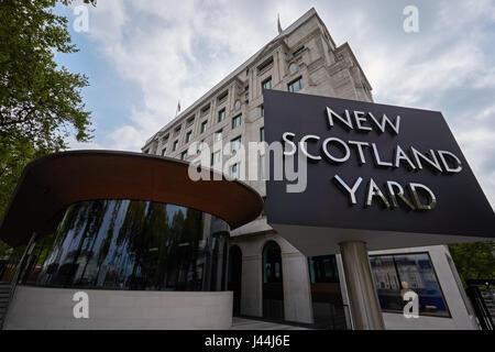 The New Scotland Yard headquarters on the Victoria Embankment in London, England, UK - Stock Photo