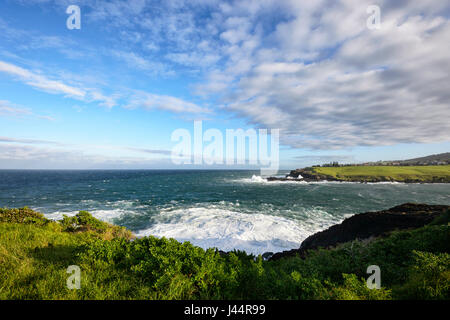Stormy weather over Easts Beach, Kiama, Illawarra Coast, New South Wales, NSW, Australia - Stock Photo