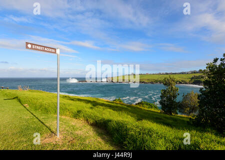Coast Path between Kiama and Gerringong, Illawarra Coast, New South Wales, NSW, Australia - Stock Photo