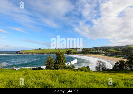 View of Easts Beach, Kiama, Illawarra Coast, New South Wales, NSW, Australia - Stock Photo