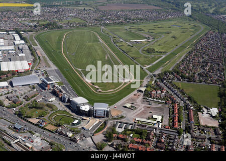 aerial view of Aintree Racecourse, home of the Grand National, Liverpool, UK - Stock Photo