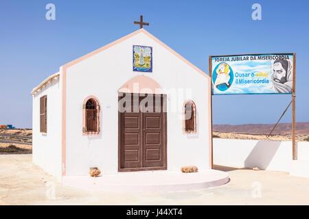 CAPE VERDE SAL Chapel Nossa Senhora de Fatima catholic church or chapel of our lady of fatima, Sal, Cape Verde Islands, - Stock Photo
