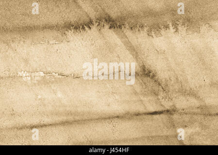 watercolor beige color painted texture background - Stock Photo