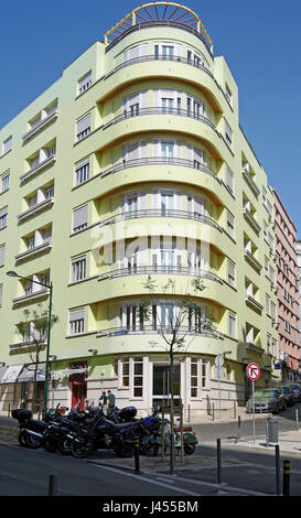 streamline luxury suites art deco building lisbon portugal stock photo royalty