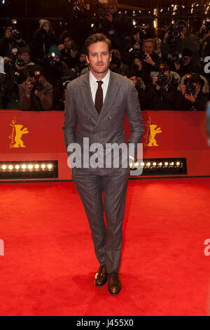 Armie Hammer at Berlinale 2017 - Stock Photo