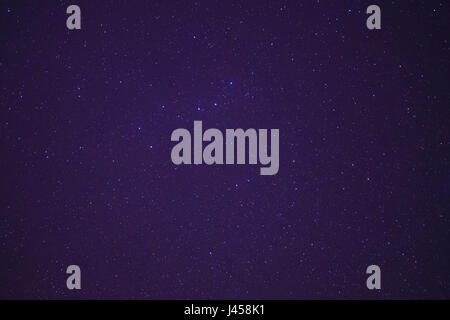 view on Ursa Major constellation in night sky - Stock Photo