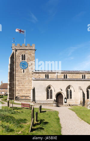St Andrews church, Aldborough, North Yorkshire, England, UK - Stock Photo