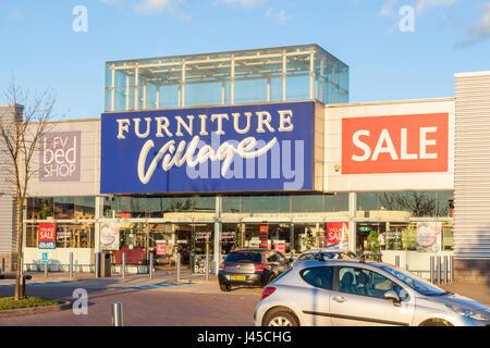 Furniture Village Birstall furniture village store at the retail park on newmarket road stock