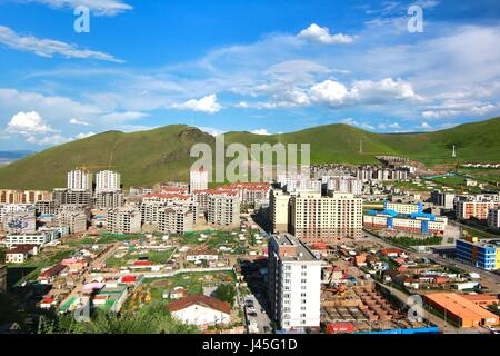 The panoramic view of the entire city of Ulaanbaatar, mongolia - Stock Photo