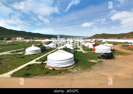 The ger camp at Ulaanbaatar , Mongolia - Stock Photo
