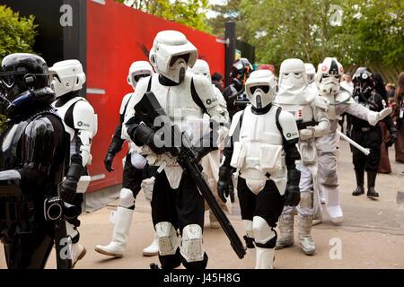National Star Wars day parade at Legoland UK Berkshire - Stock Photo