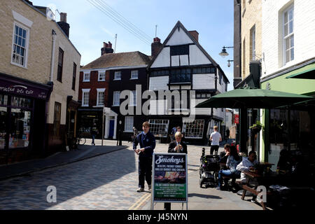 crooked house 17th century kings gallery in palace street city of canterbury kent uk may 2017 - Stock Photo
