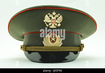 Russian military officer cap - Stock Photo