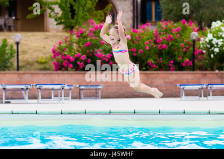 Child On Swimming Pool Learning To Swim W Stock Photo Royalty Free Image 90796077 Alamy