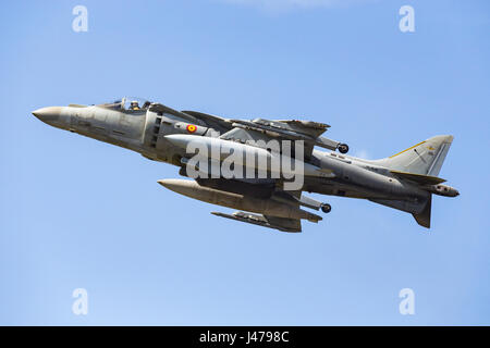 McDonnell Douglas AV-8B Harrier II (EAV-8B Matador II), Farnborough International Airshow, Farnborough Airport, - Stock Photo