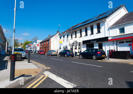 Main Street. The Claudy bombing occurred on 31 July 1972, when three car bombs exploded mid-morning on the Main - Stock Photo