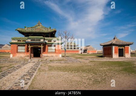 Erdene Zuu - Buddhist monastery in Mongolia. Karakorum - old capital of Genghis Khan empire - Stock Photo