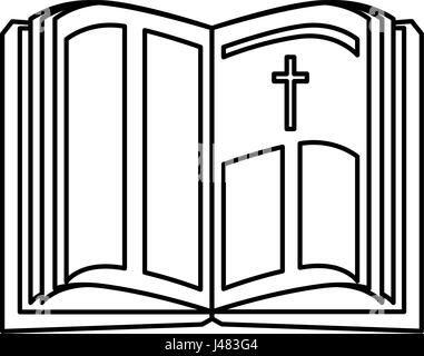 holy bible icon - Stock Photo