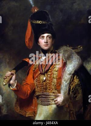 Lieutenant  Charles Stewart, 3rd Marquess of Londonderry 1814 by  Lawrence, Sir Thomas 1769-1830 UK United Kingdom - Stock Photo
