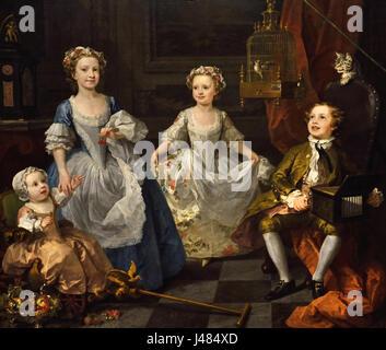 The Graham Children 1742 William Hogarth 1697-1764 English England - Stock Photo