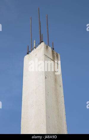 Reinforced concrete piles - Stock Photo