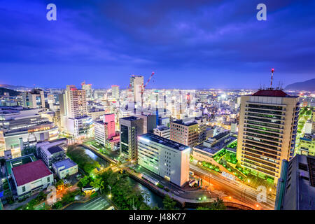 Shizuoka City, Japan downtown skyline. - Stock Photo