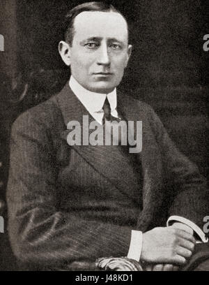 Guglielmo Marconi, 1st Marquis of Marconi, 1874 – 1937.  Italian inventor and electrical engineer. Famous for his - Stock Photo