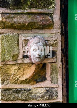brick garden sculptures metal sculptures in the small village of pott shrigley cheshire