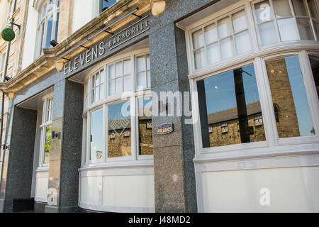 Cardiff, Wales, UK, May 10th 2017. Elevens, the SA Brains sports bar owned by Wales and Real Madrid footballer Gareth - Stock Photo