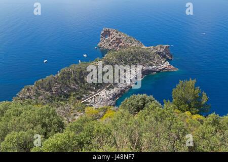 Sa Foradada Peninsula near Son Marroig, Majorca, Spain - Stock Photo