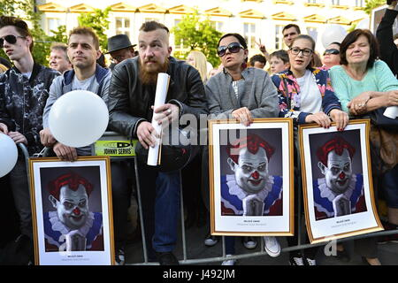 Prague, Czech republic. 10th May, 2017. More than 20 000 people protest in the Prague center against czech president - Stock Photo