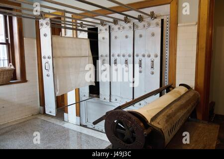 Part of the laundry room at Glensheen Mansion in Duluth, Minnesota, USA. - Stock Photo