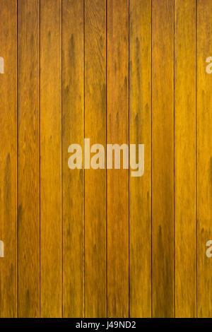 Modern wood planks door close up full frame background - Stock Photo