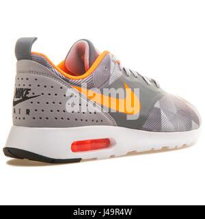 Nike Air Max Tavas Print Dark Grey Orange - 742781-018 - Stock Photo