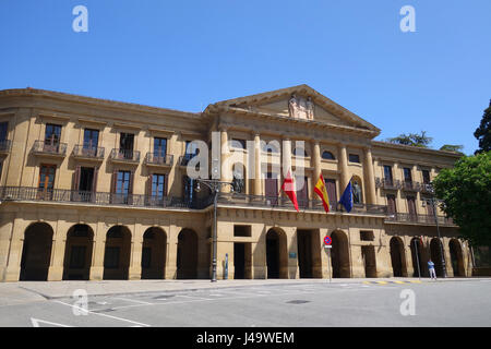 Navarre Palace in Pamplona in Navarre provence Spain - Stock Photo