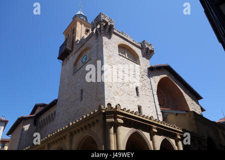 Saint Nicholas church in Pamplona in Navarre provence Spain - Stock Photo
